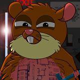 Photo: Hamstrong – a cartoon superhero fighting animal testing